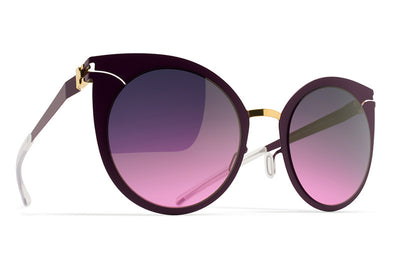 MYKITA Sunglasses - Giulietta Gold/Purple Violet with Purple Pink Gradient Lenses