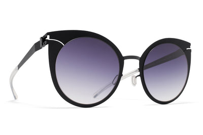 MYKITA Sunglasses - Giulietta Shiny Black with Grey Gradient Lenses