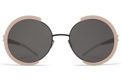 MYKITA - Houston Sunglasses Black/Sand with Dark Grey Solid Lenses