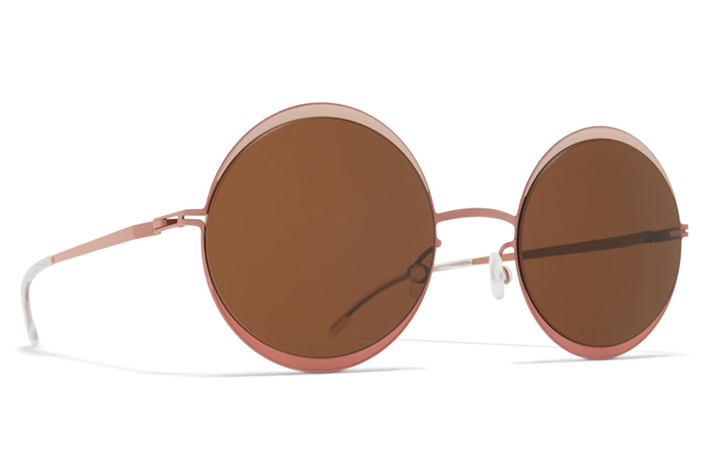 ab1a44bbee5 MYKITA - Iris Sunglasses Purple Bronze Sand Pink Clay with Brown Solid  Lenses