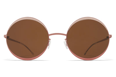 MYKITA - Iris Sunglasses Purple Bronze/Sand/Pink Clay with Brown Solid Lenses
