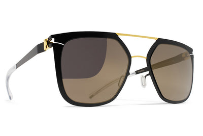 MYKITA Sunglasses - Jessica Gold/Jet Black with Brilliant Grey Solid Lenses