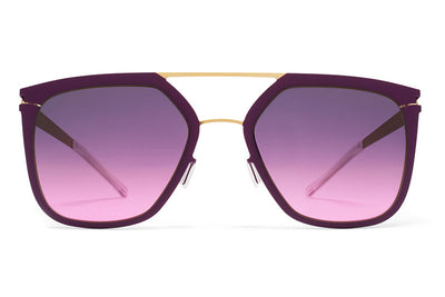 MYKITA Sunglasses - Jessica Gold/Purple Violet with Purple Pink Gradient Lenses