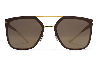 MYKITA Sunglasses - Jessica Gold/Terra with Brilliant Grey Solid Lenses