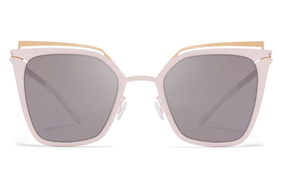 MYKITA Sunglasses - Kendall Champagne Gold/Aurore with Dark Purple Flash Lenses