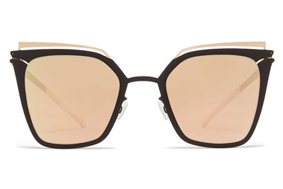 MYKITA Sunglasses - Kendall Champagne Gold/Ebony Brown with Champagne Gold Lenses