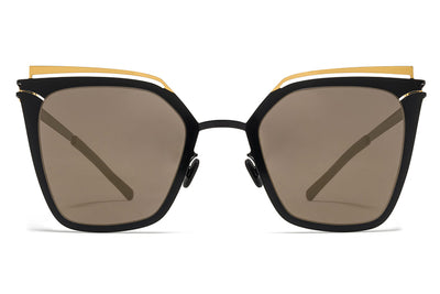 MYKITA Sunglasses - Kendall Gold/Jet Black with Brilliant Grey Solid Lenses