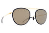 MYKITA Sunglasses - Luigi Gold/Jet Black with Brilliant Grey Solid Lenses