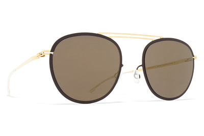 MYKITA Sunglasses - Luigi Gold/Terra with Brilliant Grey Solid Lenses