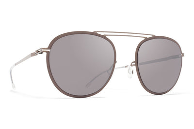 MYKITA Sunglasses - Luigi Shiny Graphite/Mole Grey with Dark Purple Flash Lenses