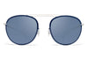 MYKITA Sunglasses - Luigi Silver/Night Sky with Saphire Blue Lenses