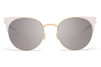 MYKITA Sunglasses - Lulu Champagne Gold/Aurore with Dark Purple Flash Lenses