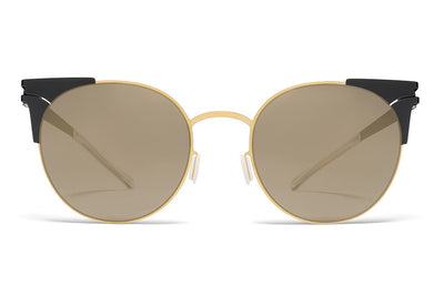 MYKITA Sunglasses - Lulu Gold/Terra with Brilliant Grey Solid Lenses