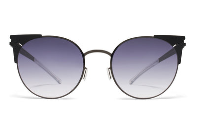 MYKITA Sunglasses - Lulu Shiny Black/Black with Grey Gradient Lenses
