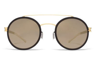 MYKITA Sunglasses - Lupita Gold/Terra with Brilliant Grey Solid Lenses