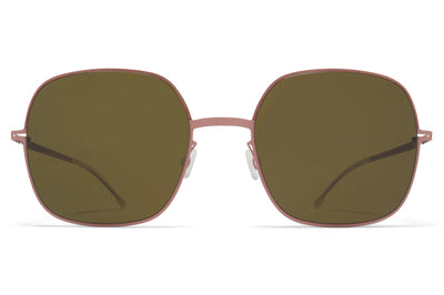 MYKITA - Magda Sunglasses Purple Bronze/Pink Clay with Raw Green Solid Lenses