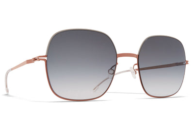 MYKITA - Magda Sunglasses Shiny Copper/Stone Grey with Grey Gradient Lenses