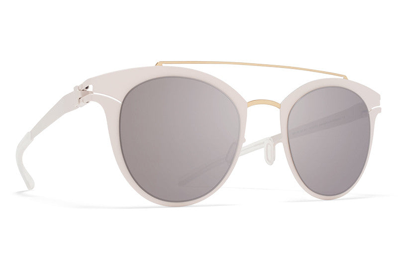 MYKITA Sunglasses -Margo Champagne Gold/Aurore with Dark Purple Flash Lenses