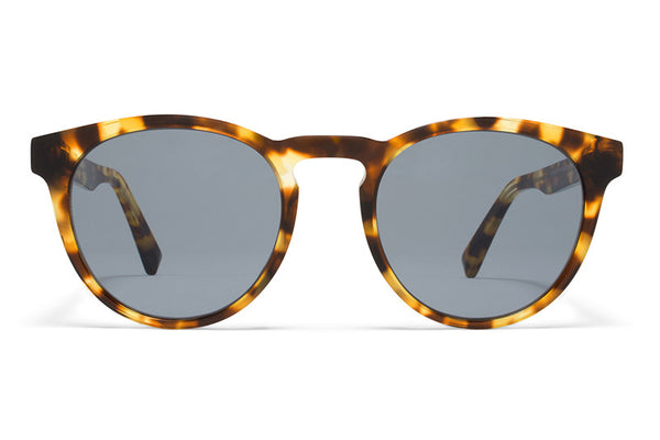 MYKITA Sunglasses - Olive Cocoa Sprinkles with Dark Blue Solid Lenses