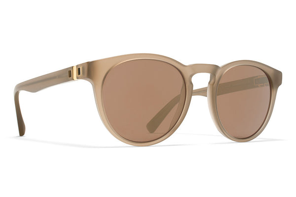 MYKITA Sunglasses - Olive Taupe with Brilliant Burgundy Solid Lenses