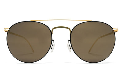 MYKITA Sunglasses - Pepe Gold/Jet Black with Brilliant Grey Solid Lenses