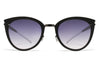MYKITA Sunglasses - Priscilla Shiny Black with Grey Gradient Lenses
