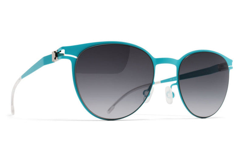MYKITA First Sunglasses - Beluga Turquoise with Black Gradient Lenses