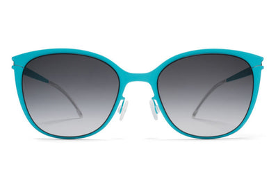 MYKITA First Sunglasses - Kea Turquoise with Black Gradient Lenses