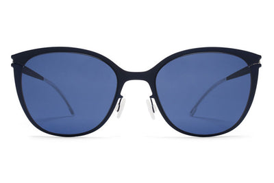MYKITA First Sunglasses - Kea Night Blue with Saphire Blue Solid Lenses