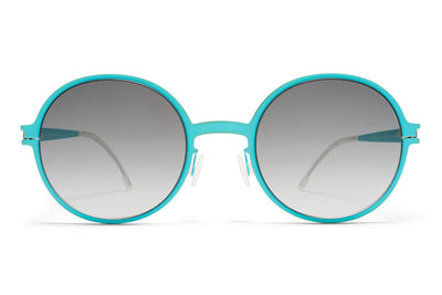 MYKITA First Sunglasses - Flamingo Turquoise with Black Gradient Lenses