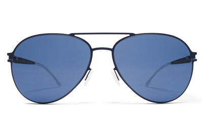 MYKITA First Sunglasses - Woodpecker Night Blue with Saphire Blue Solid Lenses