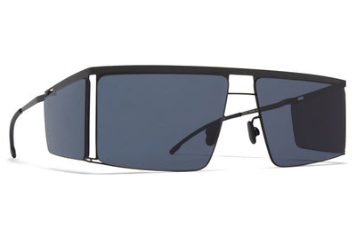 MYKITA x Helmut Lang - HL001 Sunglasses Black/Dark Grey Sides with Dark Grey Solid Lenses
