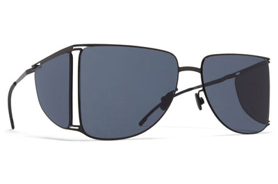 MYKITA x Helmut Lang - HL002 Sunglasses Black/Dark Grey Sides with Dark Grey Solid Lenses