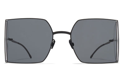MYKITA x Helmut Lang - HL003 Sunglasses Black/Clear Sides with Dark Grey Solid Lenses