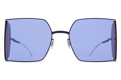MYKITA x Helmut Lang - HL003 Sunglasses Mulberry/Dark Purple Sides with Jelly Purple/Dark Purple Solid Lenses