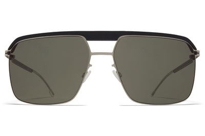 MYKITA | Leica - ML03 Sunglasses MH49 - Pitch Black/Matte Silver with Leica G15 Solid Lenses