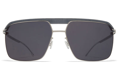 MYKITA | Leica - ML03 Sunglasses MH53 - Mouse Grey/Shiny Silver with Leica Black Solid Lenses