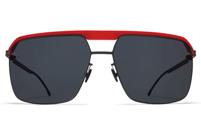 MYKITA | Leica - ML03 Sunglasses MH55 - Leica Red/Black with Leica Black Solid Lenses