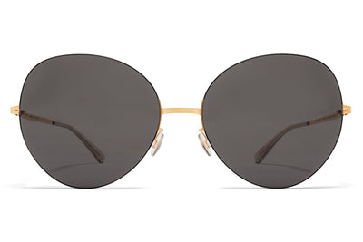 MYKITA LESSRIM - Aimi Sunglasses Champagne Gold/Dark Brown with Champagne Gold Lenses