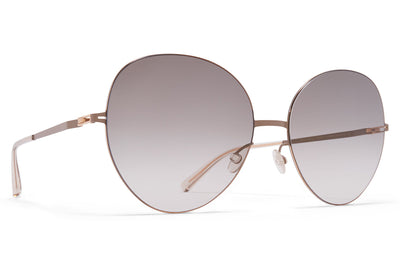 MYKITA LESSRIM - Aimi Sunglasses Champagne Gold/Taupe Grey with Original Grey Gradient Lenses