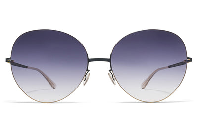 MYKITA LESSRIM - Aimi Sunglasses Gold/Indigo with Grey Gradient Lenses