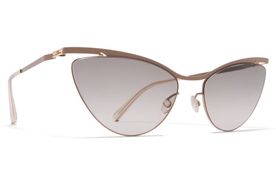 MYKITA LESSRIM - Mizuho Sunglasses Champagne Gold/Taupe Grey with Original Grey Gradient Lenses