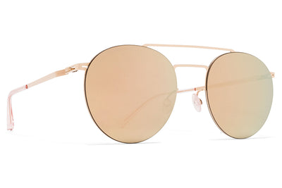 MYKITA LESSRIM - Ryo Sunglasses Champagne Gold with Champagne Gold Lenses