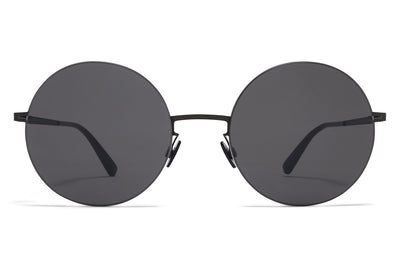 MYKITA LESSRIM - Yoko Sunglasses Black/White with Dark Grey Solid Lenses