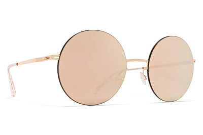 MYKITA LESSRIM - Yoko Sunglasses Champagne Gold/Black with Champagne Gold Lenses