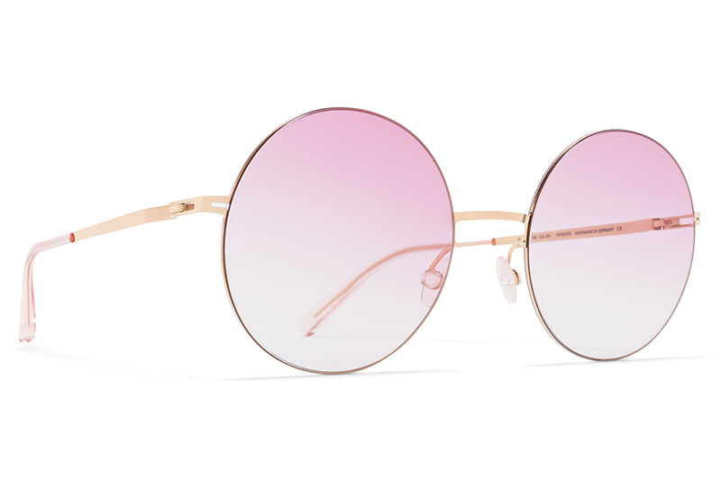 df0a26b719da ... Gold Black with Dark Grey Solid Lenses. MYKITA LESSRIM - Yoko Sunglasses  Champagne Gold with Jelly Pink Gradient Lenses