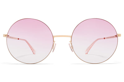 MYKITA LESSRIM - Yoko Sunglasses Champagne Gold with Jelly Pink Gradient Lenses