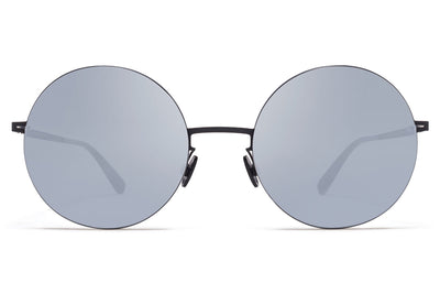 MYKITA LESSRIM - Yoko Sunglasses Silver/Black with Silver Flash Lenses