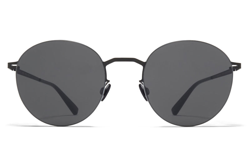 MYKITA LESSRIM - Tomomi Sunglasses Black/White with Dark Grey Solid Lenses