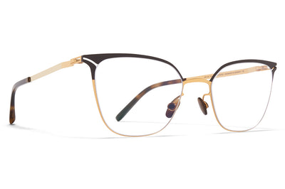 MYKITA - Arielle Eyeglasses Gold/Dark Brown